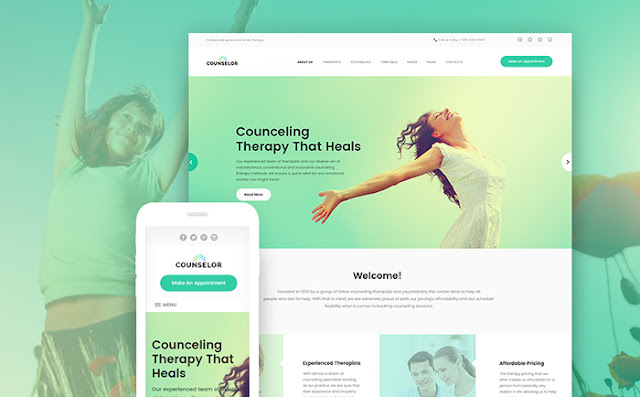 Counseling Therapy Center Responsive WordPress Theme