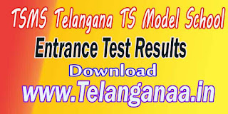 TSMS Telangana TS Model School Inter Entrance Test Notification Hall-Tickets Results
