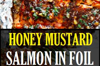 HONEY MUSTARD SALMON IN FOIL