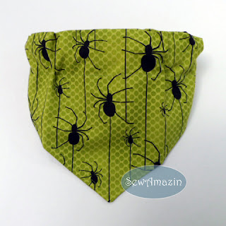 Halloween Dog Bandana, Creepy Spiders