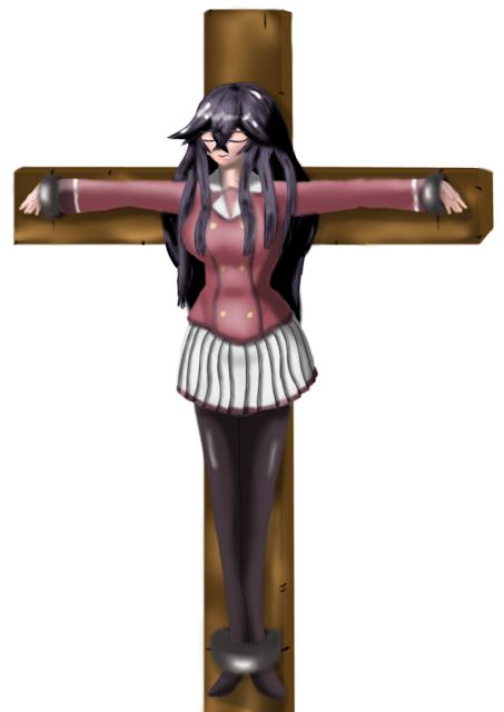 【リクエスト消化】十字架と磔と【二次創作イラスト】