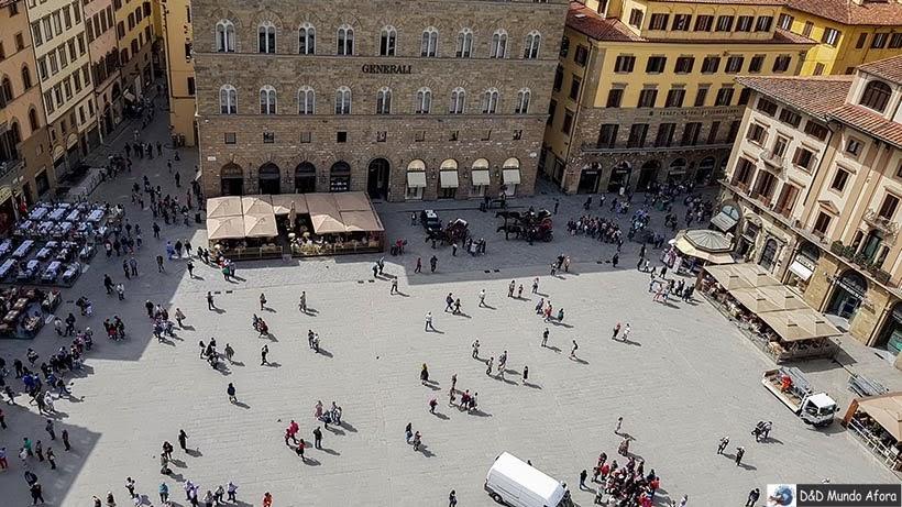 Piazza dela Signoria - Diário de bordo: 2 dias em Florença