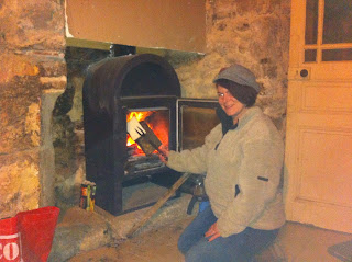 making toast on an open fire