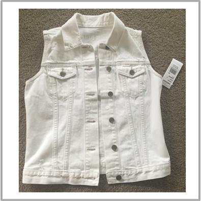 The Gap Ladies White Denim Vest