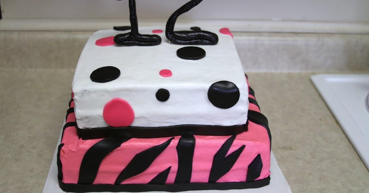 Michele Robinson Cakes Zebra Poka Dot 12th Birthday Cake