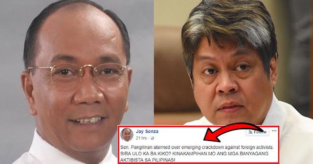 """Jay Sonza hits Senator. Kiko: """"Sira ulo kaba kiko? wala kang kwentang kababayan!."""