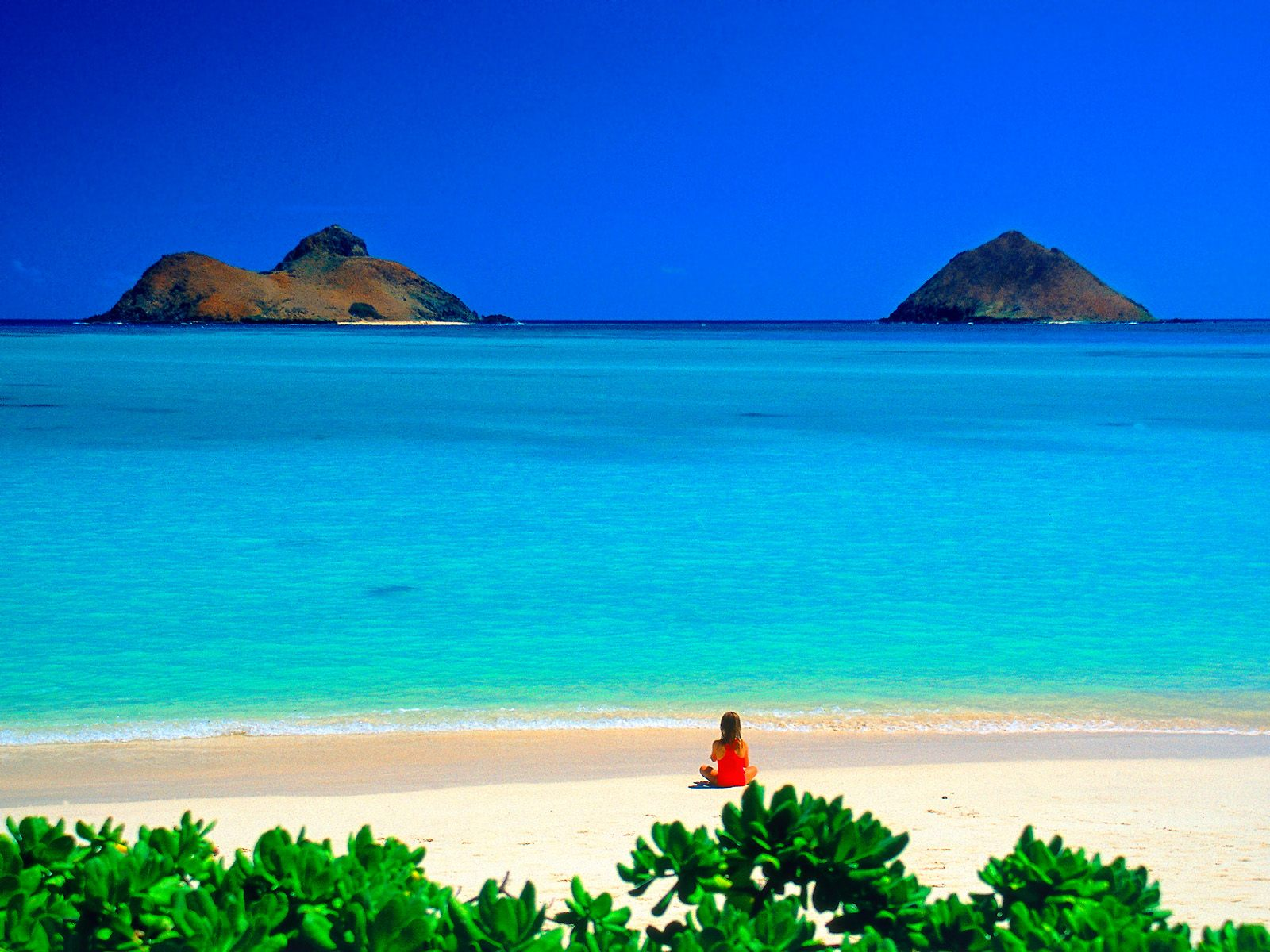 Lanikai Beach Desktop: Beach Wallpaper Backgrounds