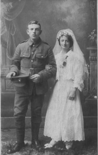 Wedding couple from England, 1916