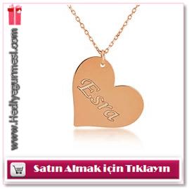 My name is İsimli Kalp Kolye