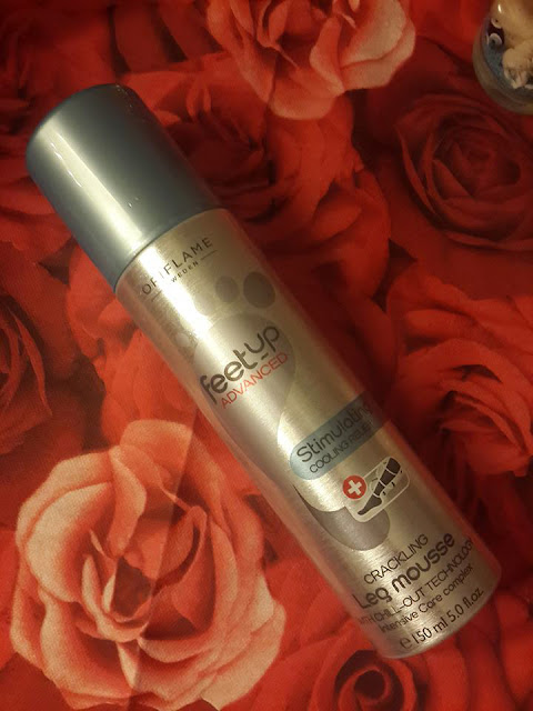Feet Up Advanced Stimulating Cooling Relief Crackling Leg Mousse ORIFLAME REVIEW AND PHOTO NATALIE BEAUTE