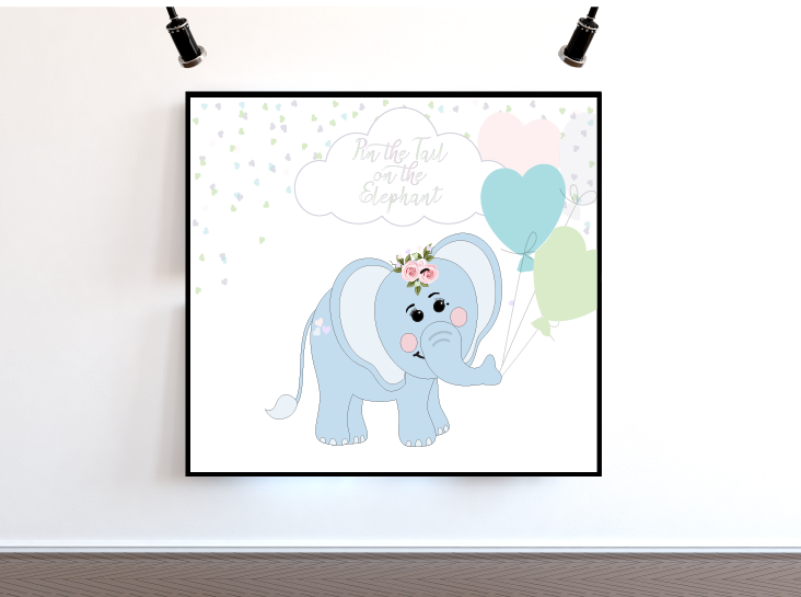 graphic regarding Free Elephant Printable known as WicksnCandlesticks : Pin the Tail upon the Elephant Free of charge