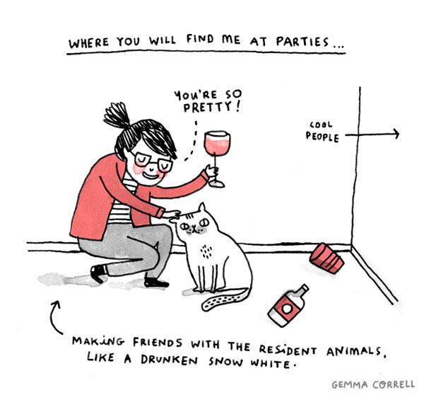15 quadrinhos da Gemma Correll que definem minha vida