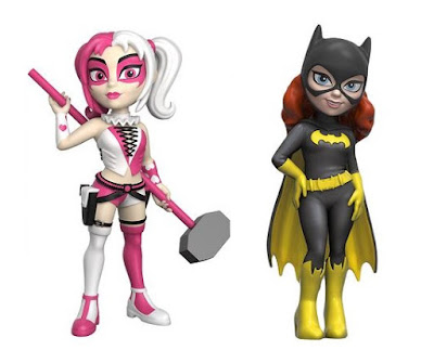 Target Exclusive Pink & White Harley Quinn & Black Suit Batgirl Rock Candy Vinyl Figures by Funko x DC Comics