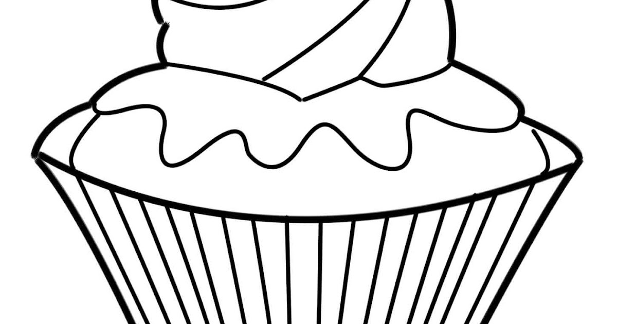 Cake Outline Drawing