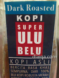 kopi robusta dark roasted