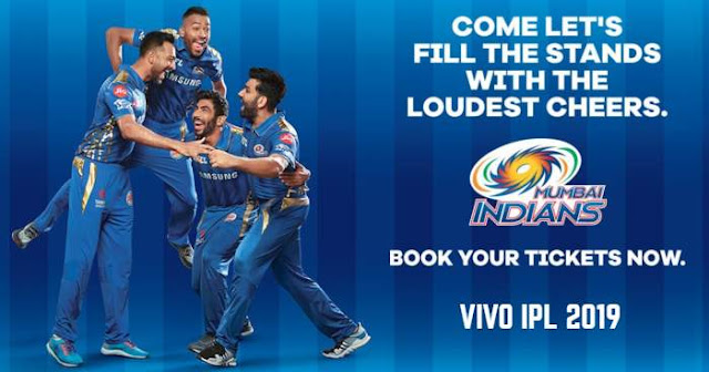 VIVO IPL 2019 Mumbai Indians (MI) Ticket Booking : Price and Cost