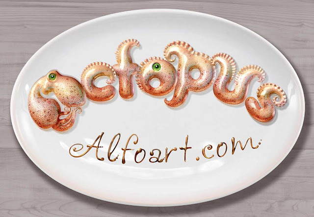 Octopus Text Effect Photoshop