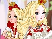 Have a great time playing this new hairstyle game called Apple White Royal Hairstyles on GamesGirlGames.com. Apple White is beautiful princess and today she needs help with her royal hairstyle. Let's start by helping her wash hair with shampoo, then help hair soft silky with shampoo and balm oil . Finally make dried and comb the hair straight for her. The next step, you can choose for her a royal hairstyle.