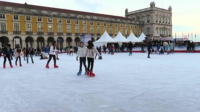 Pista de gelo em Lisboa