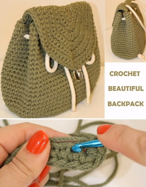 Beautiful Backpack - Crochet Tutorial