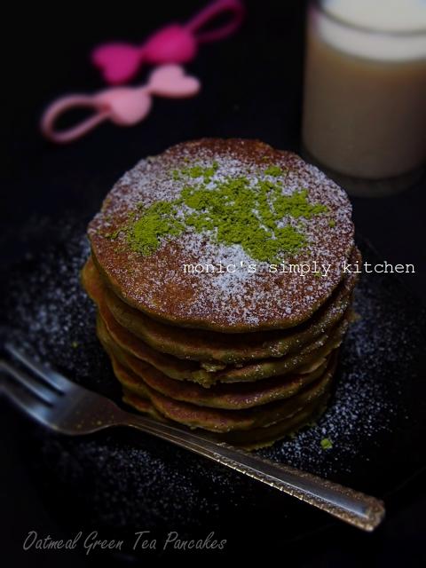 resep oatmeal green tea pancakes