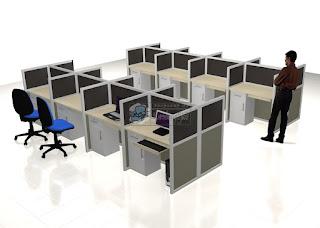 Meja Kantor Semarang  Meja Kantor Dengan Sekat
