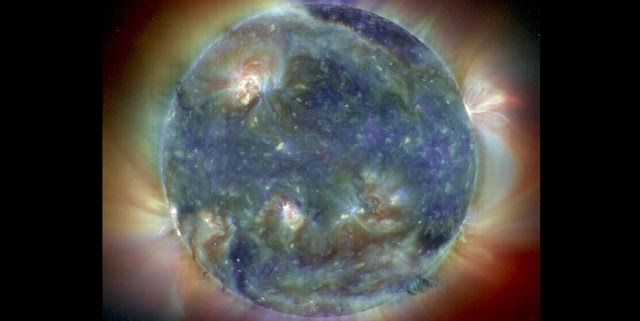 Ultraviolet image shows the Sun's intricate atmosphere. Credit: SOHO (ESA & NASA)