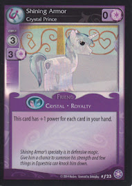 My Little Pony Shining Armor, Crystal Prince The Crystal Games CCG Card