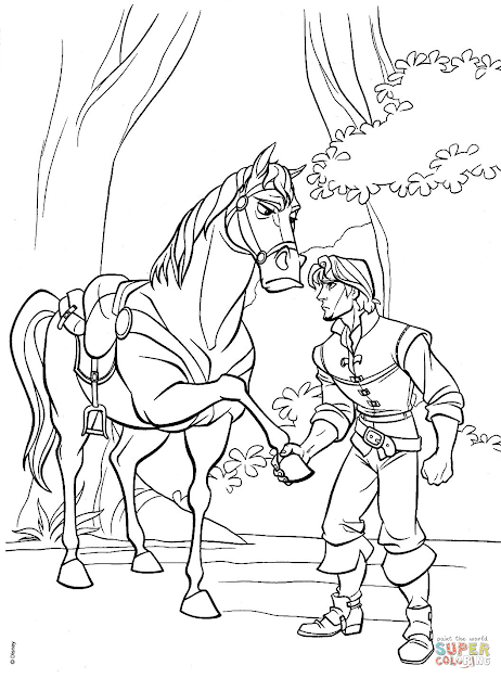 Click The Flynn And Maximus Agree To Truce Coloring Pages To View  Printable Version Or Color It Online Patible With Ipad And Android  Tablets