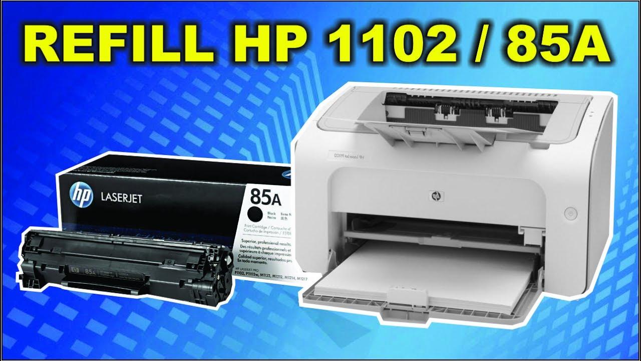 Cara Isi Ulang Toner Cartridge HP Laserjet 85a P1102