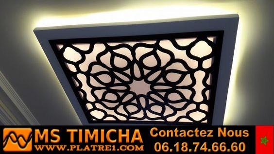 decoration platre plafond maison platre marocain