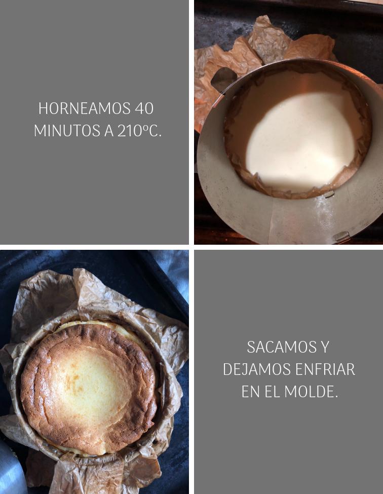 Preparación Tarta de queso tipo La Viña