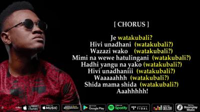 Download Video | Mbosso - Watakubali (Lyrics Video)