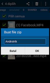 Cara buat file zip