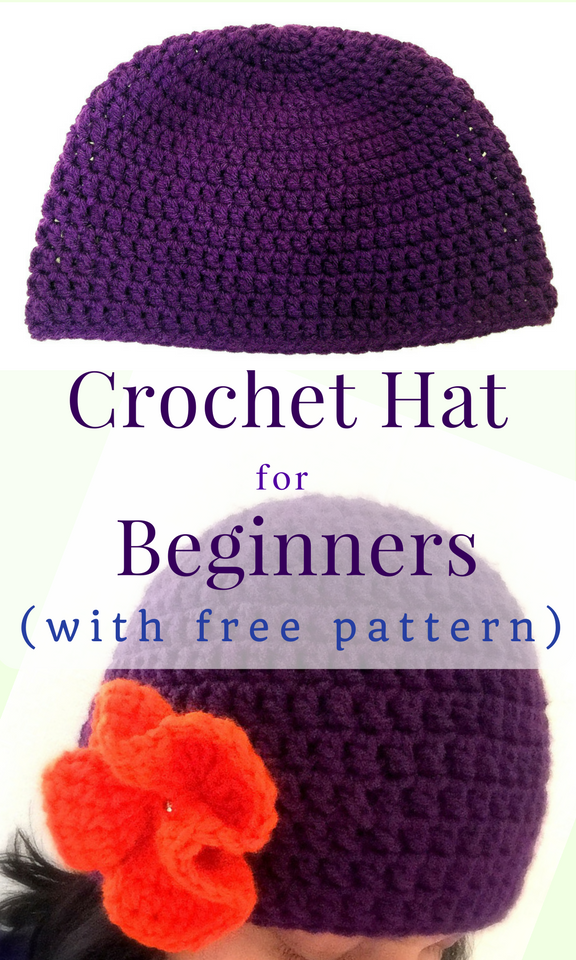 Crochet Hat for Beginners (with free pattern)