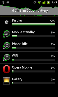 Check battery usage, with Intent.ACTION_POWER_USAGE_SUMMARY