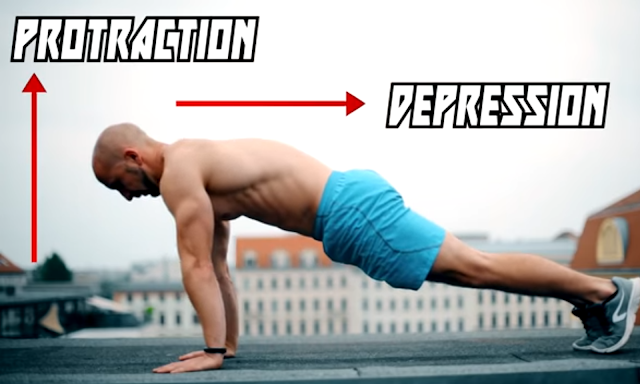 Push up shoulder blade correction