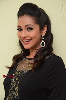 Telugu Actress Manasa Manohar Stills in Black Long Dress at Naku Nene Thopu Turumu Trailer Launch  0033.JPG