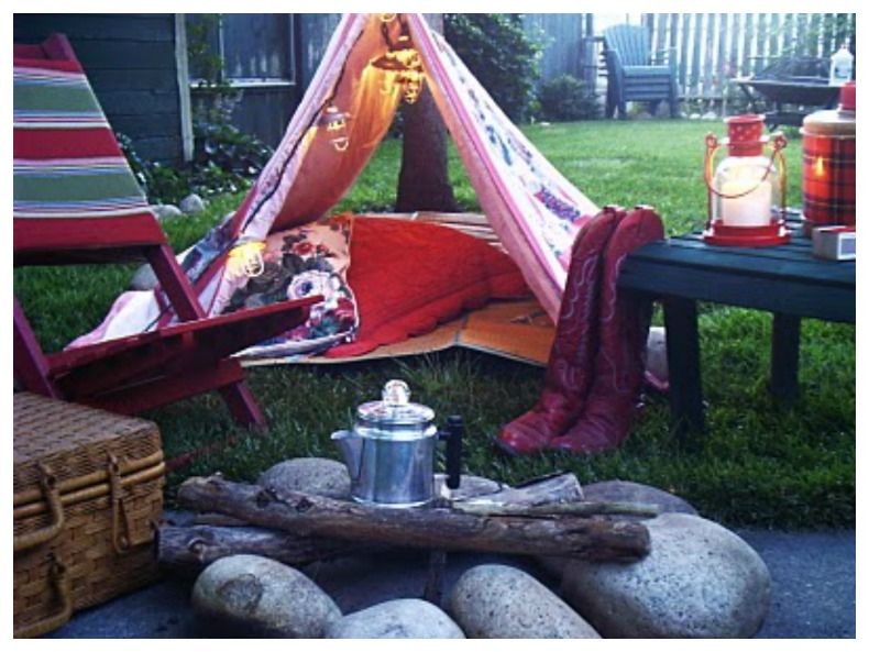 Coastal backyard tent