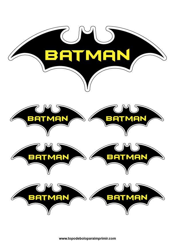 Topo De Bolo Batman Topper De Bolo Para Imprimir