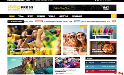 Nanopress Grid Blogger Template