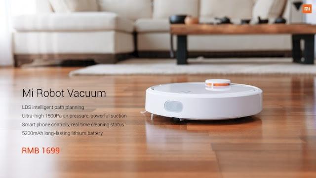 Novo lançamento da Xiaomi Robot Vacuum Cleaner