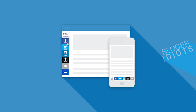 Cara memasang tombol social share melayang disamping blog dengan sumome