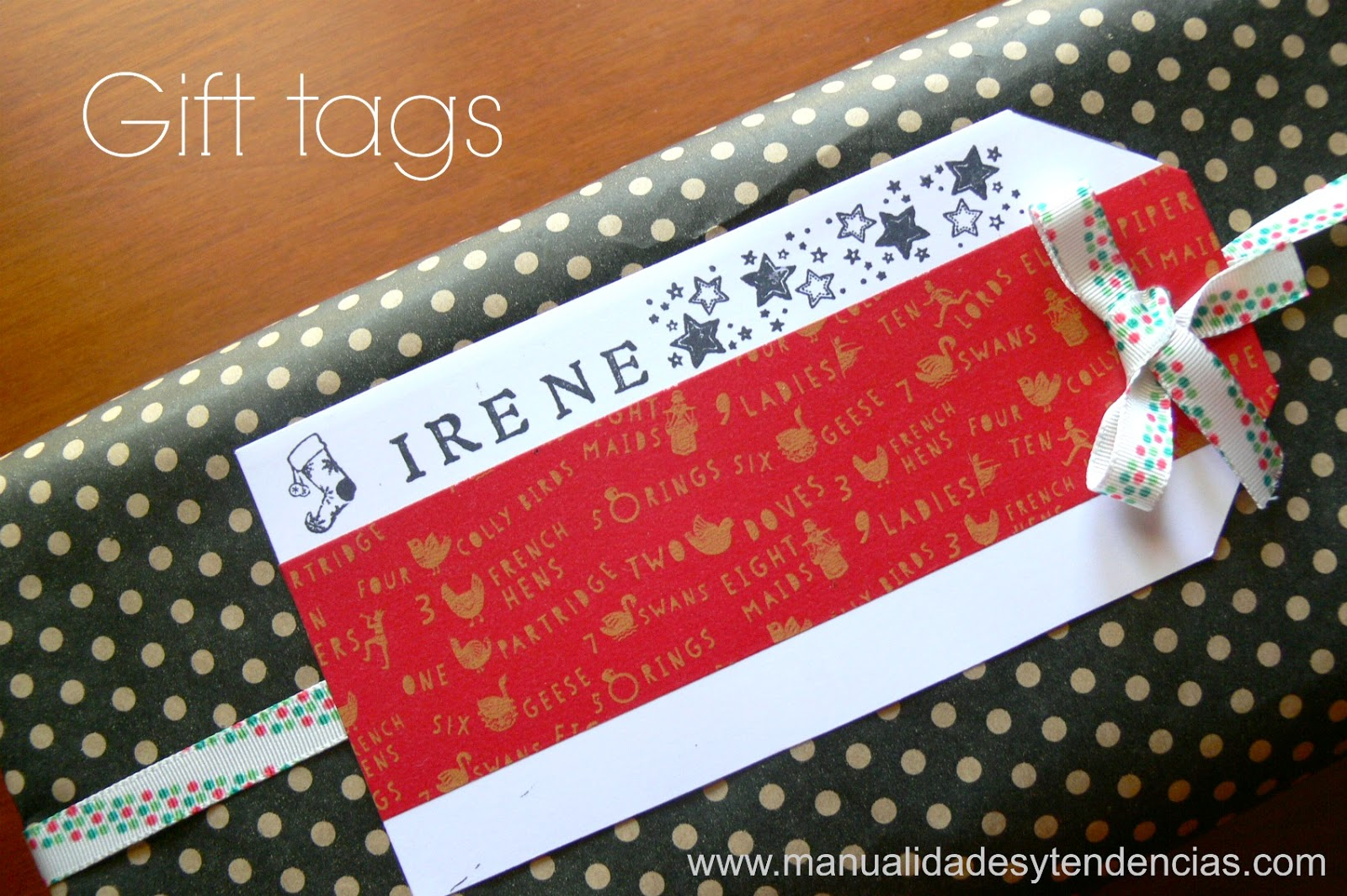 Handmade gift tags scrapbooking