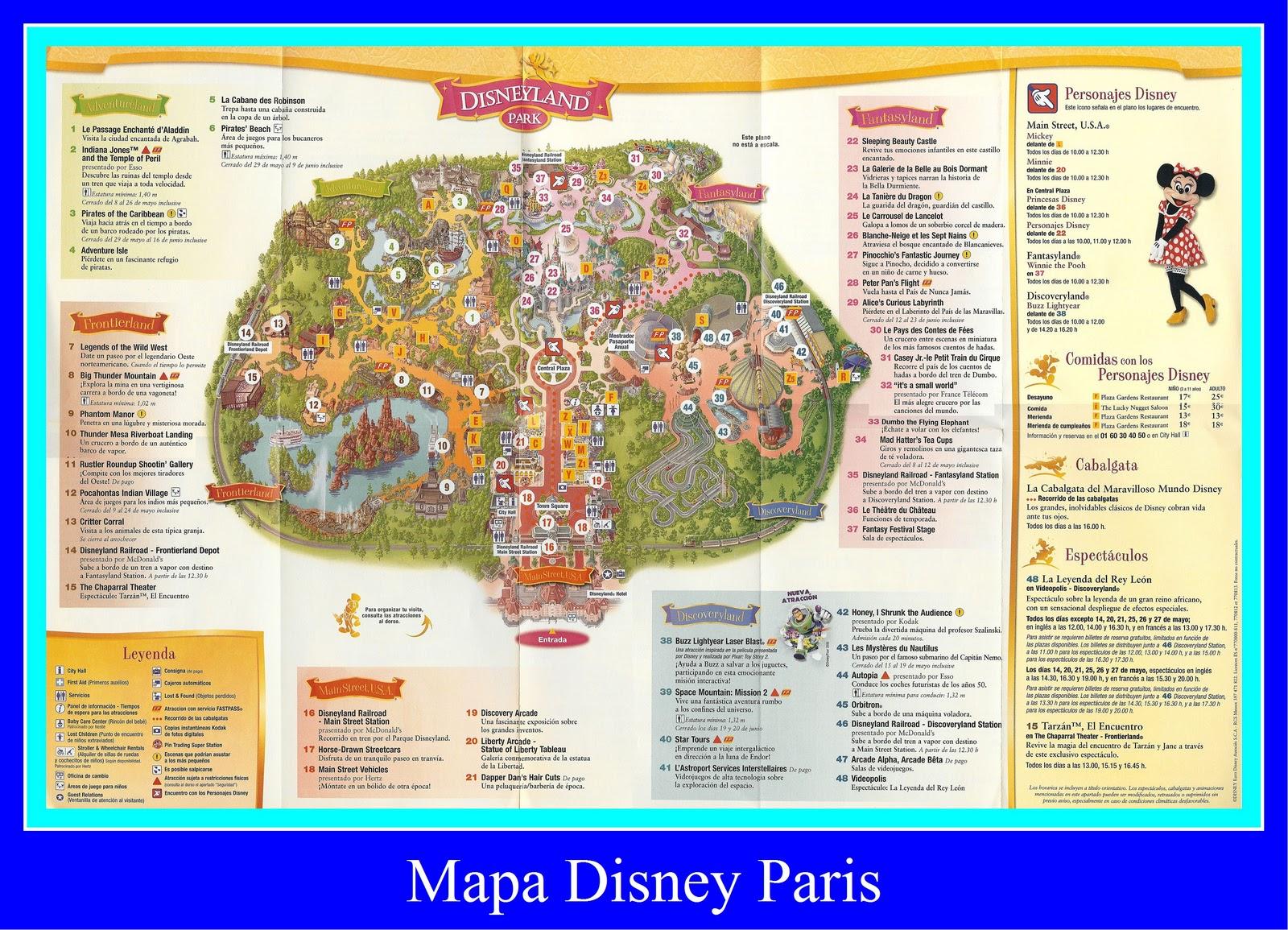 mapa disneyland paris 2011 RadioTundaka: Mapa Disneyland Paris mapa disneyland paris 2011