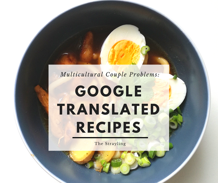 Multicultural Relationship Problems: Google Translated Recipes