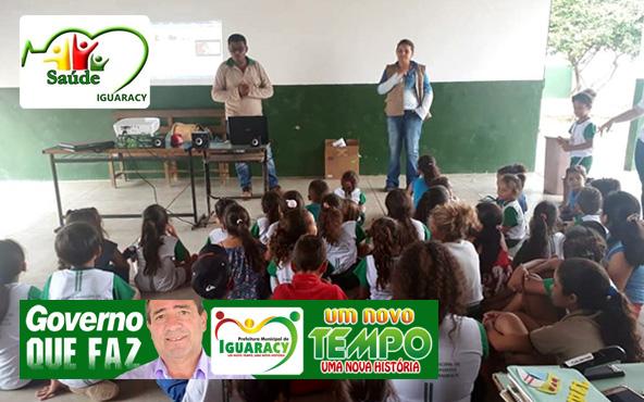 Secretaria de Saúde de Iguaracy realiza atividades educativas na luta contra a Dengue, Zika e Chikungunya no município.
