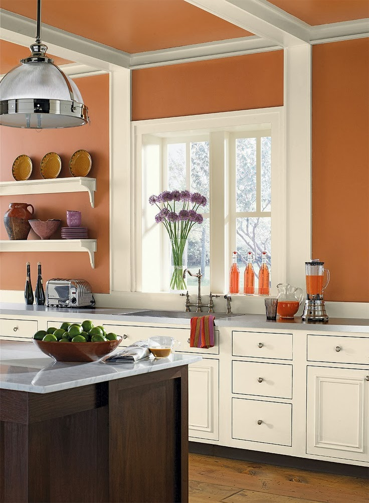 While I Haven T Actually Painted Any Rooms In Our Cur Or Former House Orange Ve Always Liked The Way It Looked Pictures Especially Kitchens