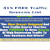 415 FREE Traffic Sources List Free Download