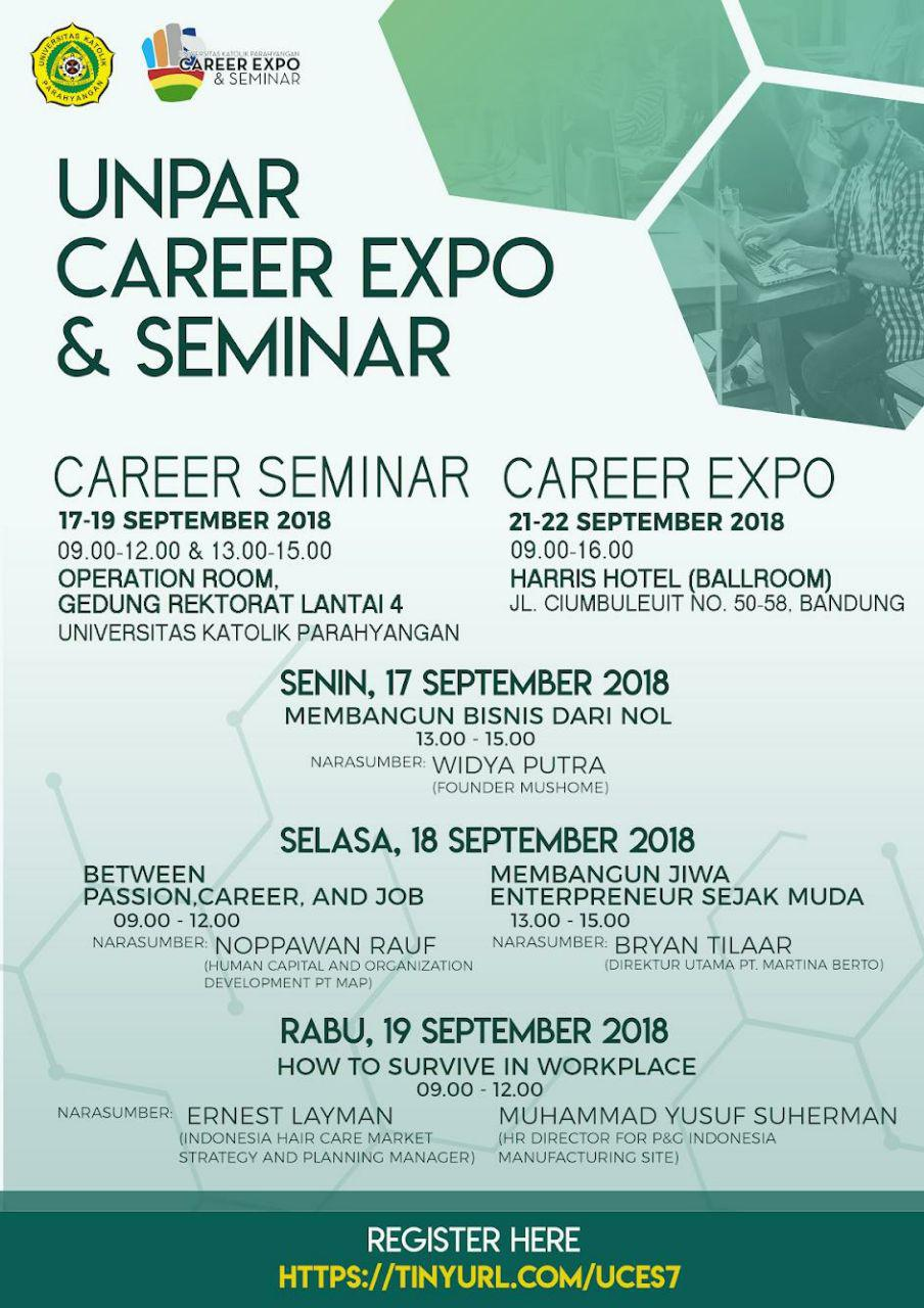 Unpar Career Expo & Seminar September 2018